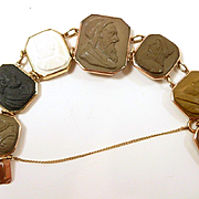 Adventurous Grand Tour Lava Cameo Bracelet c. 1860