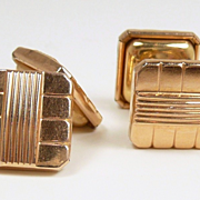 Magical Murat Paris 14kt. Yellow and Rose Gold Chain Drive Cufflinks c. 1950