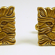 Charming Cathead Cufflinks Retired MMA c. 1980
