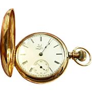 Charming Elgin 6S 14kt. Solid Gold Hunter Case Pocket Watch C. 1888