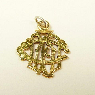 Perfect Victorian Gold Charm Pendant or Watch Fob c. 1880
