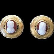 Vivacious Victorian Cameo Earrings c. 1870
