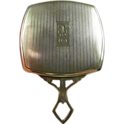 Special Art Deco Sterling Purse Mirror c. 1920