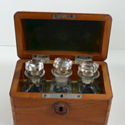 Amazing Antique Gold Rush Field Test Kit Original Box with Handblown Bottles