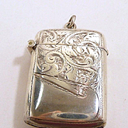 Charming Rolason Brothers Bright Cut Chatelaine Vesta Case Birmingham c. 1900