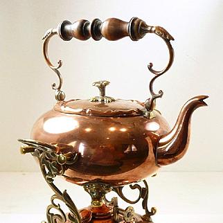 Captivating Carl Deffner Jugendstil Art Nouveau 5 o'clock Tea Pot with Warmer c. 1890