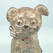 Vintage Hubley Cast Iron Puppy Dog Piggy Bank c. 1920