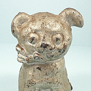 Vintage Hubley Cast Iron Puppy Dog Piggy Bank c. 1920