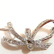 Dramatic Drapey Diamond Bow Necklace