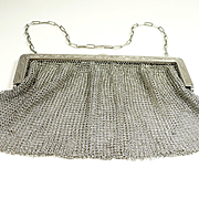 Exceptional Edwardian Era Sterling and Moonstone Full Evening Purse c.1900