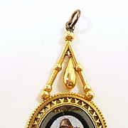 Charming Archaeological Revival Micromosaic Pendant of the Grand Tour c. 1870