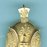 Exciting Etruscan Revival Gold Pendant Locket c. 1870