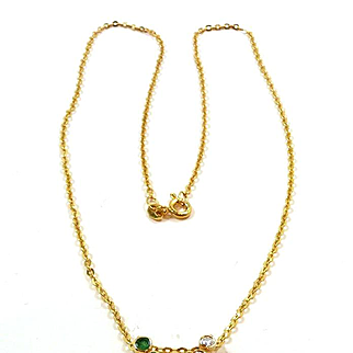 "Scintillating ""Bubbles"" Emerald and Diamond Pendant Necklace"