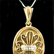 Grand Victorian Rolled Gold and Natural Pearl Pendant c. 1880