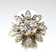 Charming Vintage Diamond Ladies Fashion Ring
