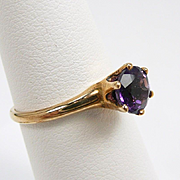 Diminutive and Elegant Amethyst Victorian Ring c. 1890