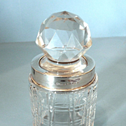 Classic John Grinsell & Sons Edwardian Sterling and Crystal Scent Bottle c 1910