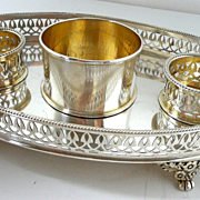 Exquisite Edwardian Era Sterling Cruet Stand c. 1903