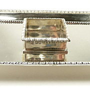 Dramatic George Lambert London Sterling Inkstand c. 1900