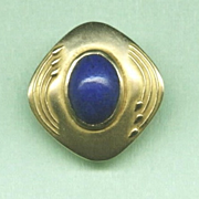 Special Art Nouveau Gold and Lapis Lazuli Stickpin c. 1890