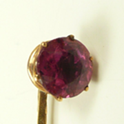 Unique Georgian Tourmaline and Gold Cravat or Stickpin C.1800