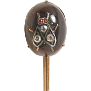 Fascinating Victorian Fly Stickpin c. 1870