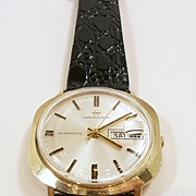 Exciting Vintage Gold Hamilton Man's Wrist Watch c. 1970