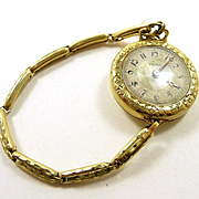 WW1 Era Gold Gruen Ladies Convertible Watch c. 1915