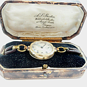 Mysterious and Charming All Original Ladies Gold Wrist Watch Very Old