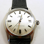 Tempting Tudor 34mm. Stainless Watch by Rolex c. 1970