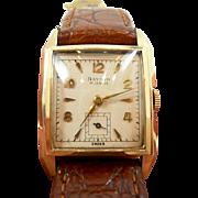 Interesting Vintage Baylor Gold Tank Watch c. 1950's