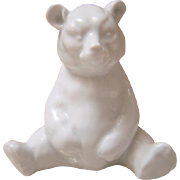 Herend White Porcelain Sitting Bear