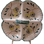 BLUE RIDGE Pottery  4- Section Tray, Anniversary Song Pattern
