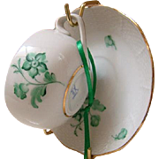 Herend Hungary Demi Cup And Saucer