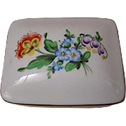 Herend Trinket, Vanity, Dresser Or Cigarette Box With Lid
