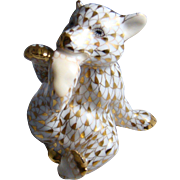 Herend Guild Gold Fishnet Bear Cub Limited Edition