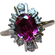 14K Diamond And Pink Sapphire Or Ruby Ring – 2.28 TCW - 14k Plump Gold