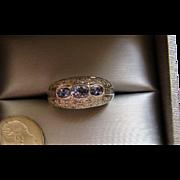 Levian 18K Tanzanite And Diamond Ring – 1.20 TCW 18K White Gold