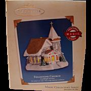 "HALLMARK Ornament ""Fieldstone Church"" Magic Light Sixth In Series MIB"