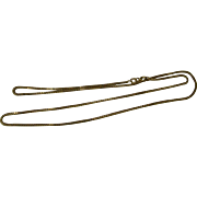 """10k  20"""" Box Chain -  1.5 mm wide - Yellow Gold Stamped Italy"""