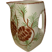 ERWIN Pottery, Signed Hand Painted Pinecone Pitcher