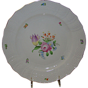 """Herend 11"""" dinner charger plate - porcelain china, hand painted"""