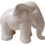 Herend Porcelain White Elephant Figurine