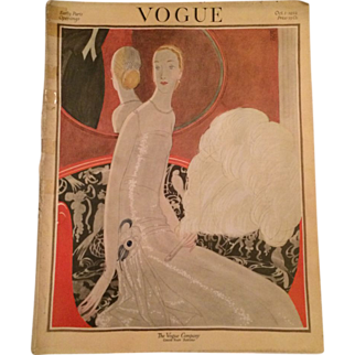 Original Vintage Vogue Magazine - October 1922