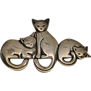 Vintage James Avery Cat Pin/Brooch