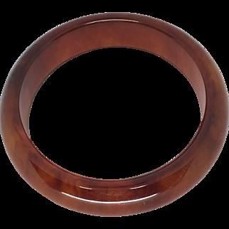 Cherry Amber Tortoise Brown Bakelite Bracelet