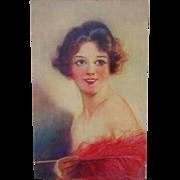 Vintage Woman Portrait Print