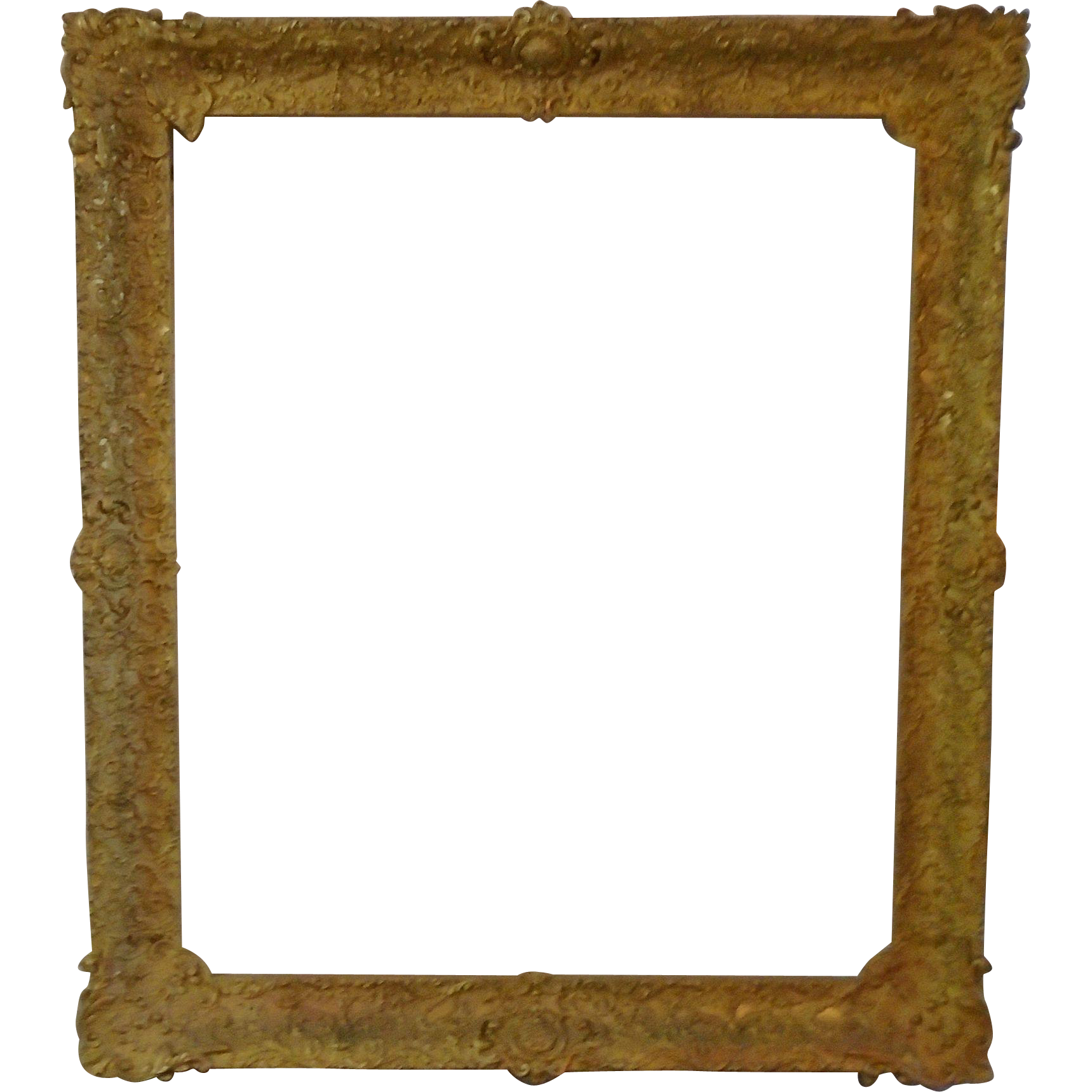 Large 19c antique gilt wood gesso french baroque style - Large antique picture frames ...