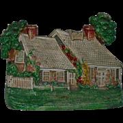 Hubley Cottage House Doorstop with Flowers Cast-Iron Door Stop Vintage