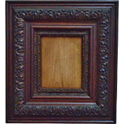 Antique Arts & Crafts Picture Frame or Photo Frame Mission Bungalow Wood & Gesso